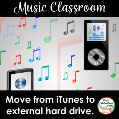 How to move files from iTunes to external hard drive.