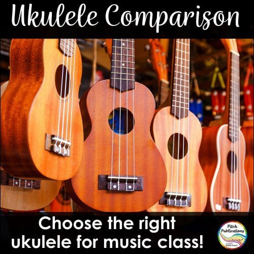 This ukulele brand comparison covers 10+ brands/models of ukulele for the general music classroom. Figure out which ukulele your music program needs!