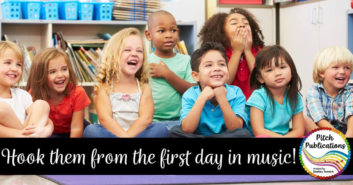 "Are you struggling what to do the VERY FIRST DAY of music class? It can be scary! No worries! I got you covered! Check out this blog post to get some amazing ideas for your class! #pitchpublications"" data-pin-media="