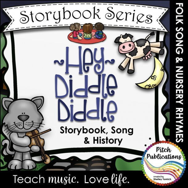 This storybook series by Shelley Tomich from Pitch Publications is so cute! What a perfect way to teach the class folk songs and nursery rhymes! #pitchpublications