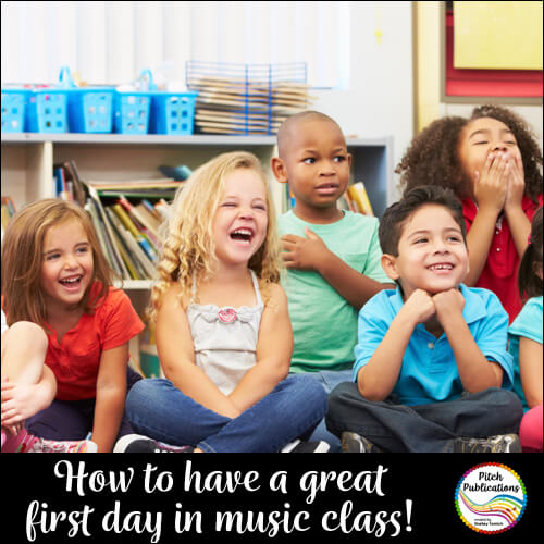 Hook them from the first day!  Fabulous First Day of Music Lesson Plans
