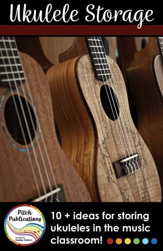 This is an amazing compilation of ukulele storage ideas for the general music classroom! From storing on the wall, to storing on the floor, you are sure to find a solution for your music room! #musedchat #musicteacherlife #musicteacher #musictpt #iteachmusic #musiceducation #musicclassroom #elmused #musicteacher #elementarymusic #musiced #iamamusicteacher #generalmusic #orffposse #kodaly #teacherlife #elementarymusicteacher #musicteacherproblems #tptmusic #tptmusiccrew #pitchpublications