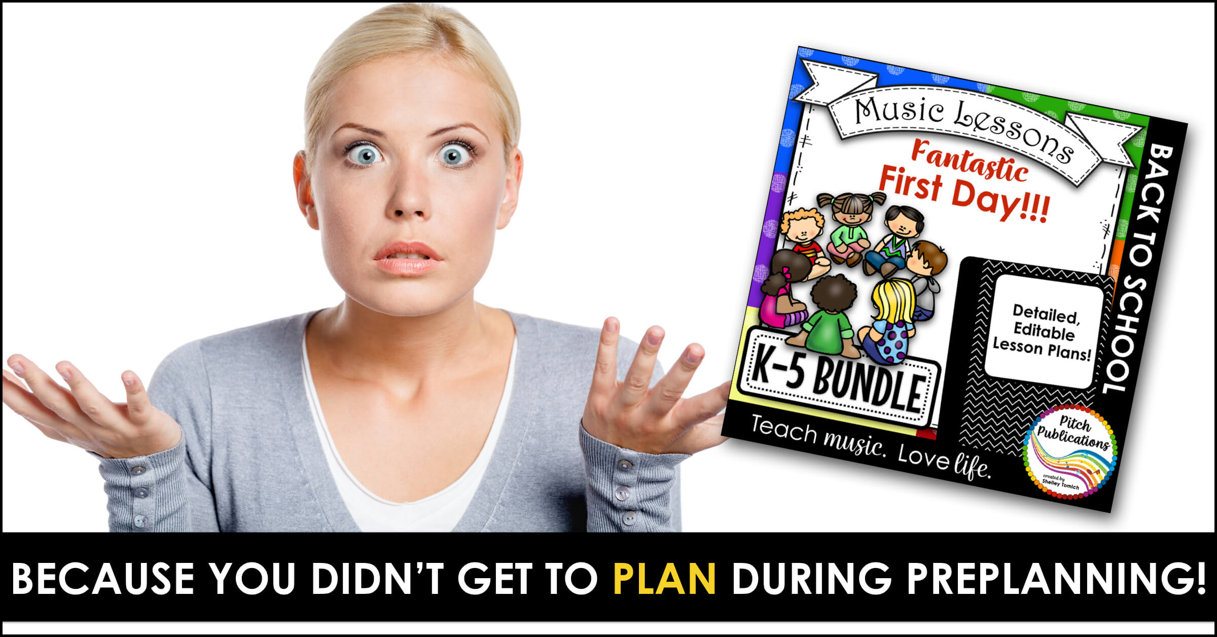 Are you struggling what to do the VERY FIRST DAY of music class? It can be scary! No worries! I got you covered! Check out this blog post to get some amazing ideas for your class! #pitchpublications just now