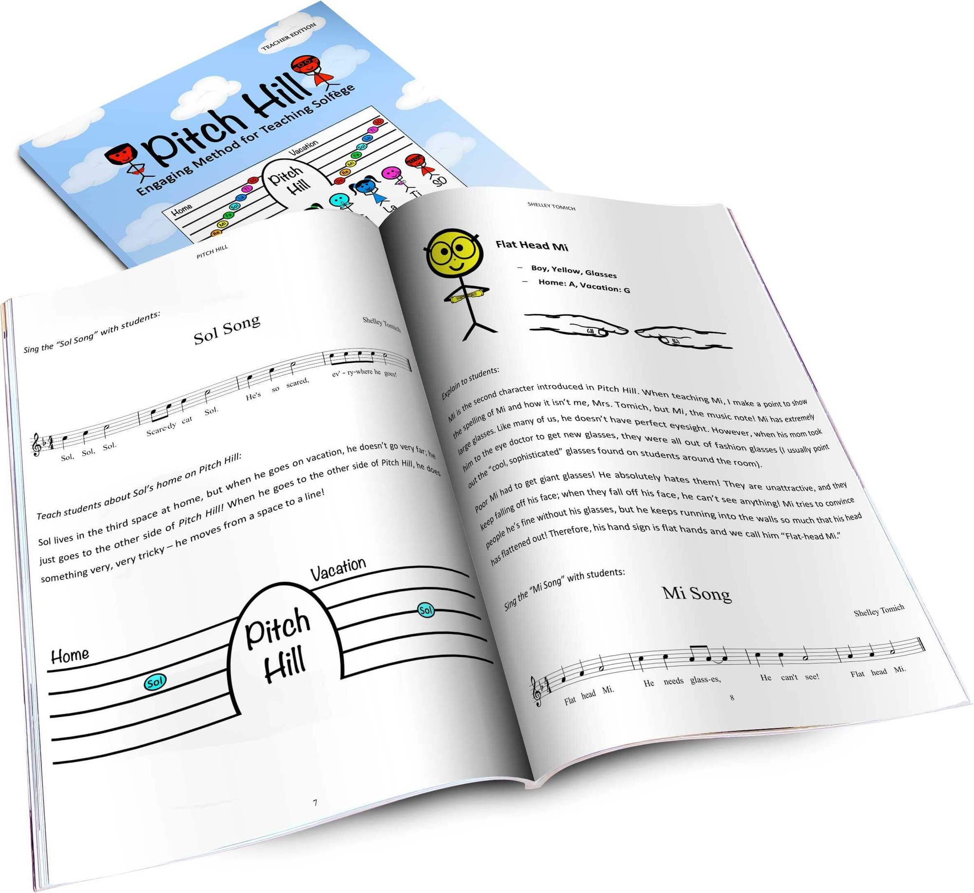 Pitch Hill is a method of teaching the notes of the musical scale in which each note is a character with his or her own story and special song! It is incredibly easy for teachers and super engaging for students! These are the great Pitch Hill character songs!