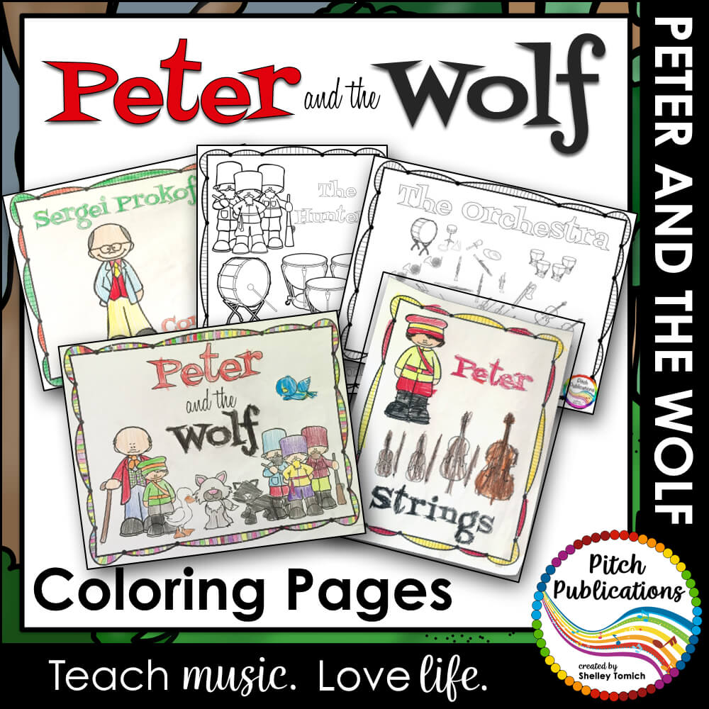 Peter and the Wolf Series - Coloring Activities Pages
