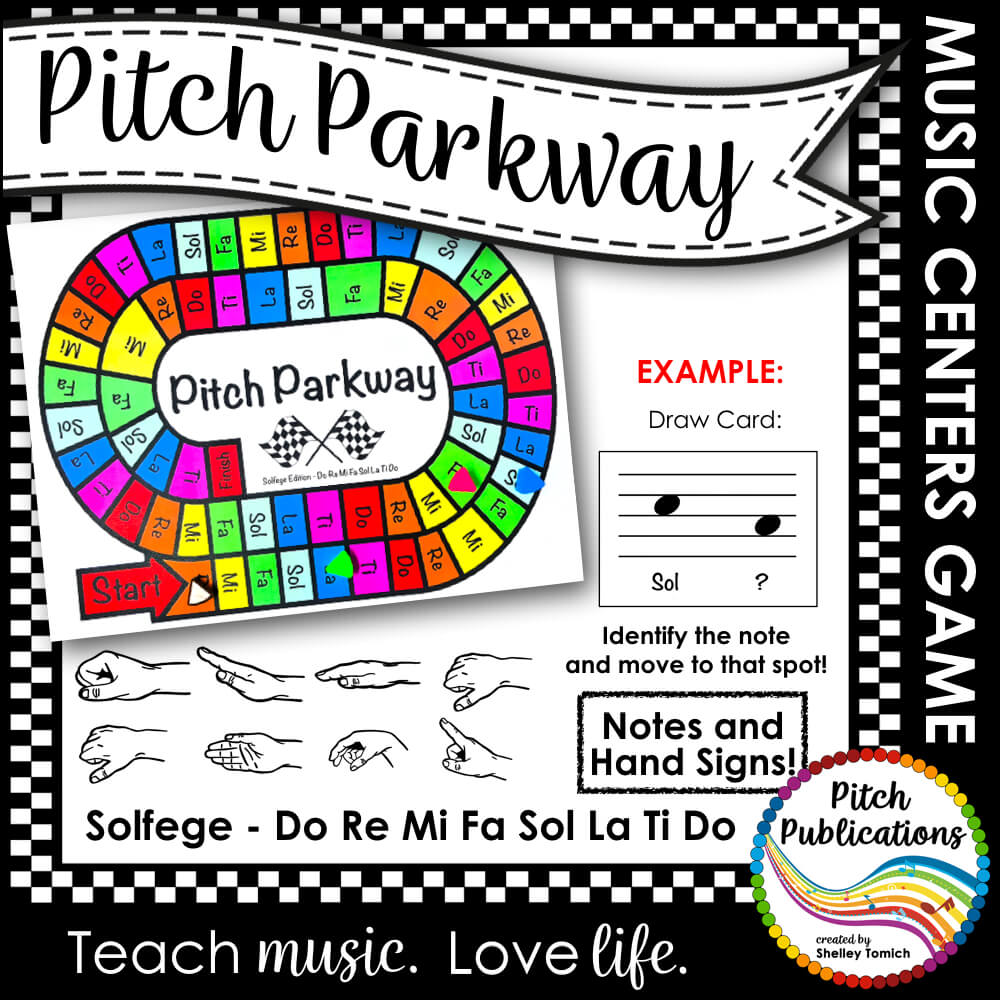 Music Centers: Pitch Parkway - Solfege Do Re Mi Fa Sol La Ti Do Game,  Practice