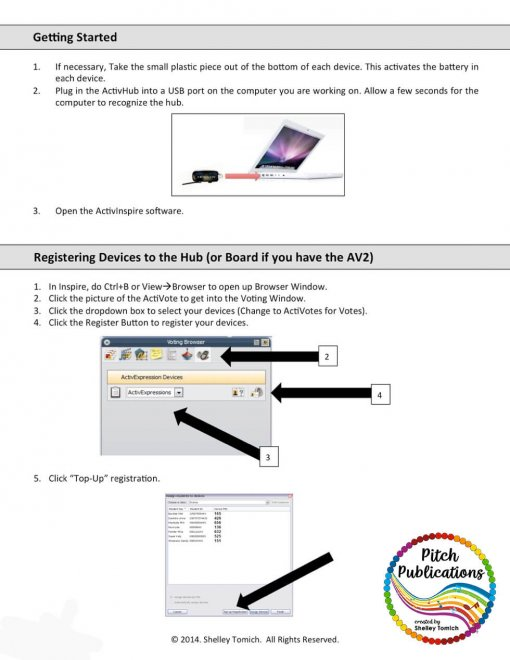 Example picture from the Getting Started with Activotes Guide
