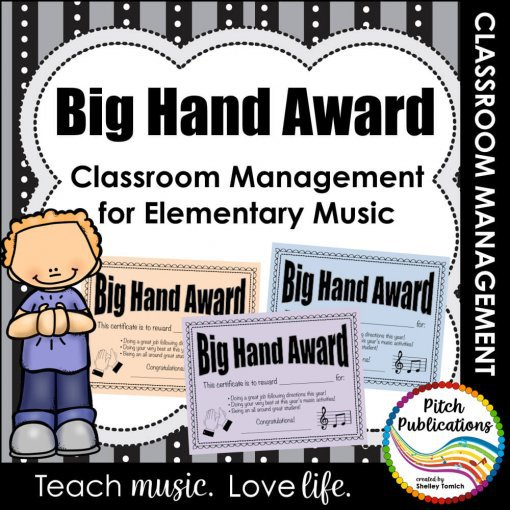 This is a picture of gif certificates intended for classroom management in the elementary music classroom.