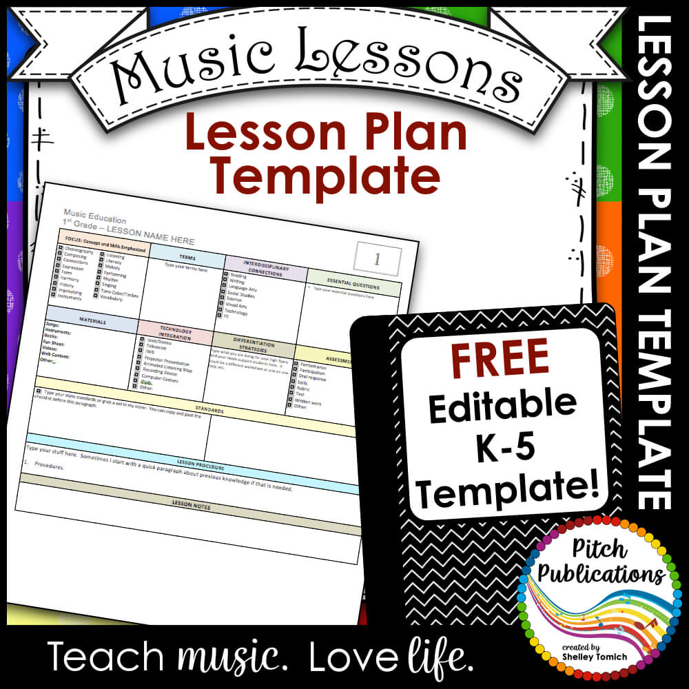 Music Lesson Plan | Elementary Music Lesson Plan Templates Free