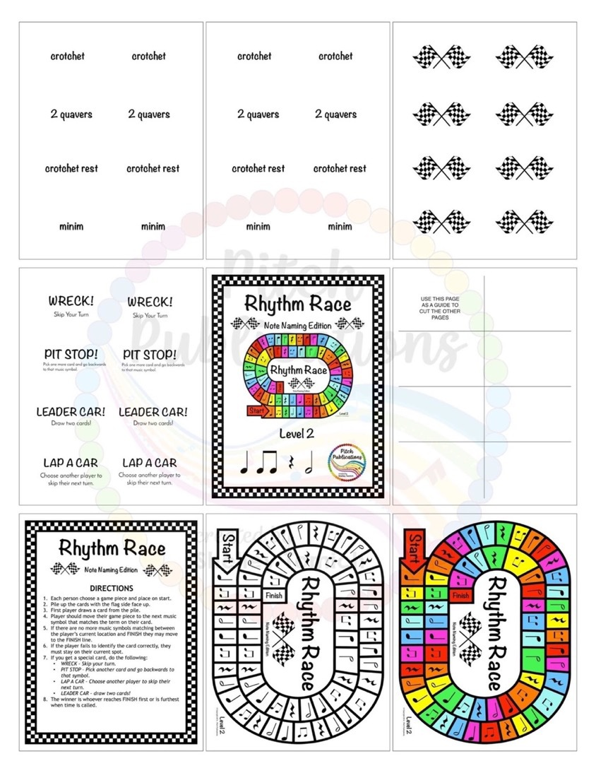 Music Centers Rhythm Race Note Naming Edition Level 2