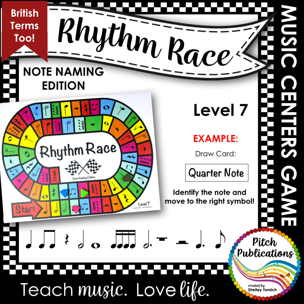 Music Centers: Rhythm Race Note Naming Edition Level 7 - Rhythm Game