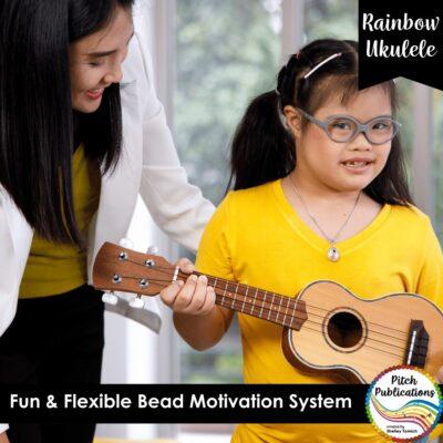 Rainbow Ukulele Bead Motivation System